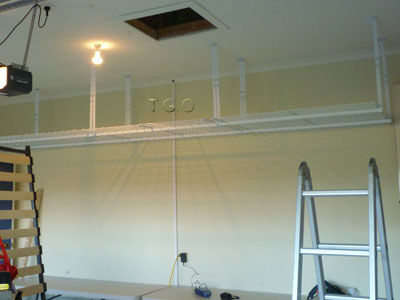in height storage hyloft w unit adjustable garage mounted ceiling white racks x ceilings p d