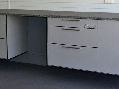 black garage cabinets