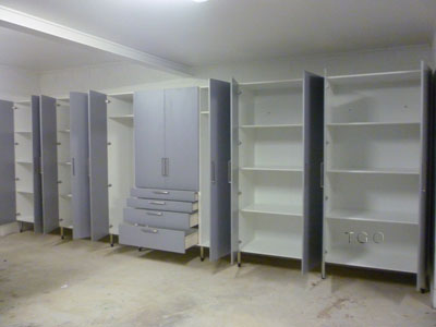 built in cabinets for family room